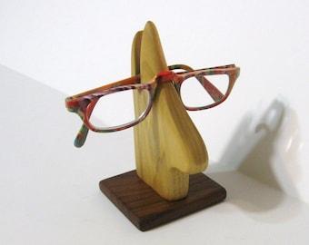Eyeglass Holder Made Of Poplar And Walnut Woods