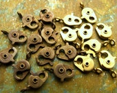 """13mm Lobster Clasps - Solid Brass """"Old Timer"""" - Choose Raw or Antiqued - Patina Queen - 10"""