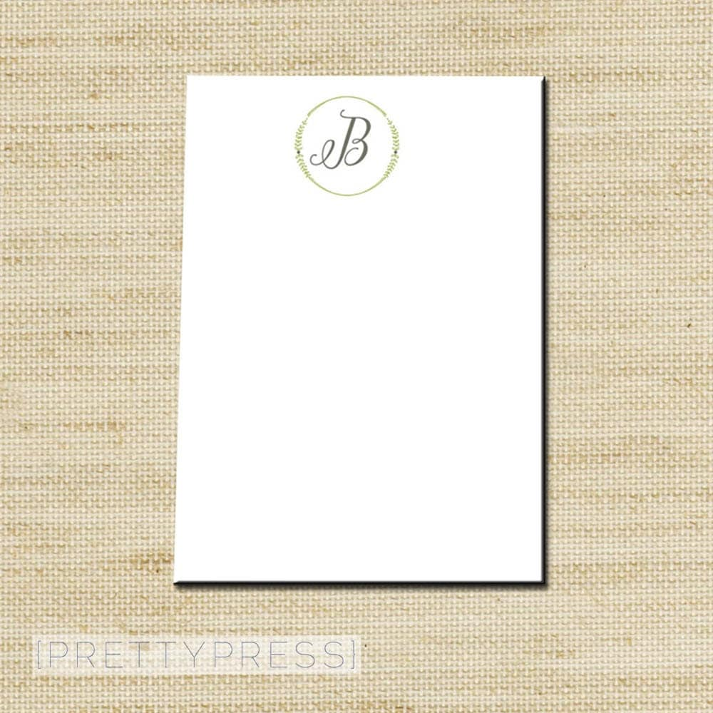 Bridal Shower Party Favors Custom Notepad Note Pad Note