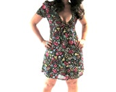 90s BABYDOLL Cut out BACKLESS Dress Floral Summer