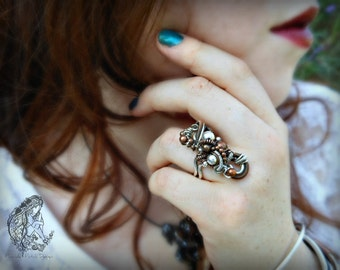 Statement Sculpture Ring,  Create your own style, SAMPLE PHOTO, Made to Order