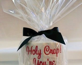Holy Crap You're 50! Embroidered Toilet Paper