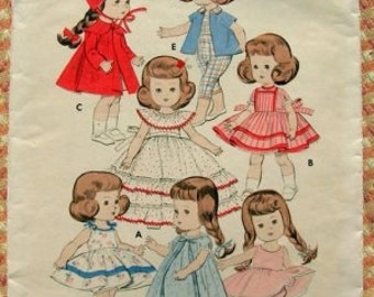 "Butterick 7972    Size 8""    Doll's Wardrobe      Vintage 1930's Sewing Pattern"
