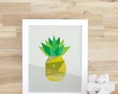 Pineapple Art Print Digital Art Print Yellow Pineapple Kids Fun Decor Fruit Decor Fruit Wall Art Baby Nursery Yellow. Pineapple Print