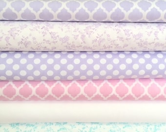 60 Inch Wide Beautiful Sewing for Children Home Decor Fabrics Mix Match Colors Pink Lavender Aqua