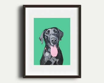 Custom Portrait - Hand Painted Pet Portrait, 11x14 inch Painting from your Photo - Custom Home Decor Idea -  Fun and Unique Gift Idea