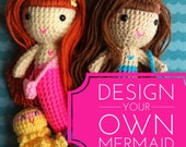 Design your own mermaid doll, Handmade doll,  crochet mermaid doll, Customizable doll, soft doll, holiday toy