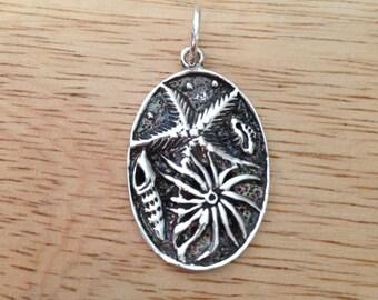 Sea Shell Pendant Sterling Silver Sea Shell Pendant The Sea & Shell Pendant Handmade - JBL18