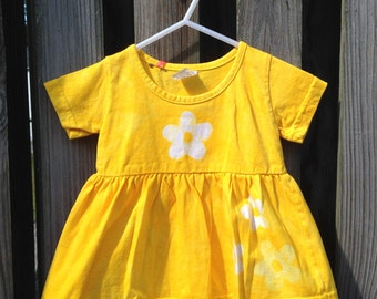 Yellow Baby Dress, Flower Baby Dress, Baby Flower Dress, Baby Girl Dress, Baby Girls Dress, Baby Easter Dress (12 months)