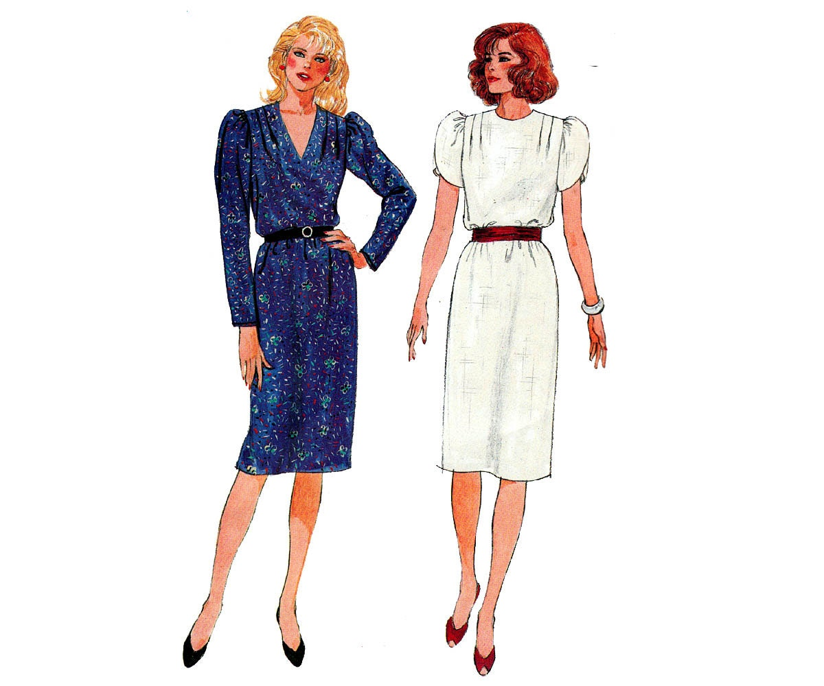 80s Tunic Dress Pattern Butterick 6601 By Allthepreciousthings