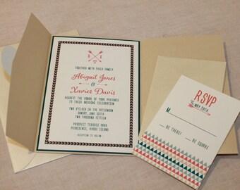Arrow Wedding Invitation