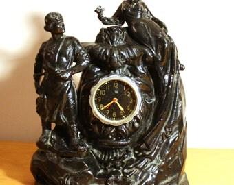 ChChZ Soviet clock from 50s 60s Mantel clock vintage fugural
