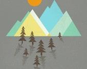 Asphalt Sun Print