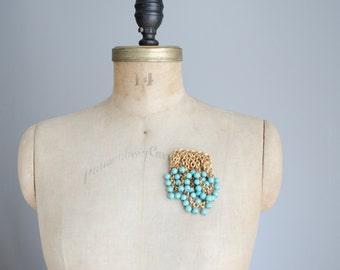 1940s Brooch - 40s Jewelry - Blueberries Brooc
