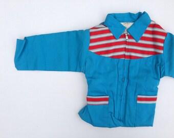 Vintage 1940s Jacket / 1950s Jacket / Child's Coat / Size 4 / Girls Coat Boy Coat / Deadstock 40s 50s Jacket