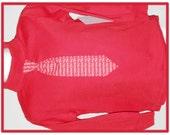Toddler shirt Valentine tie attached sz 4T red turtleneck