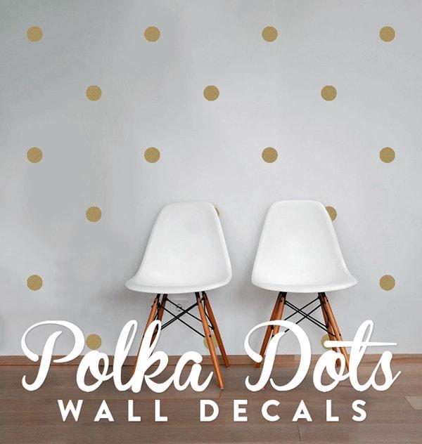 dots wall decals polka dot stickers geometric confetti. Black Bedroom Furniture Sets. Home Design Ideas