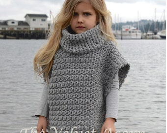 CROCHET Pattern - Aura Pullover (2, 3/4, 5/7, 8/10, 11/13, 14/16, adult S/M, adult L/XL sizes)