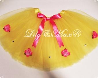 Belle PARTY tutu, Princess Belle tutu, yellow tutu, princess tutu, princess birthday tutu, party favor tutu, belle party tutu, princess tutu