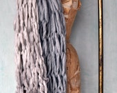 Layering Your Wardrobe - Wide Bulky Scarf- Handknit from Handspun Yarn 2 Scarves Custom Order