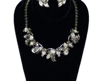 1960s Vintage Juliana Necklace and Earring Set