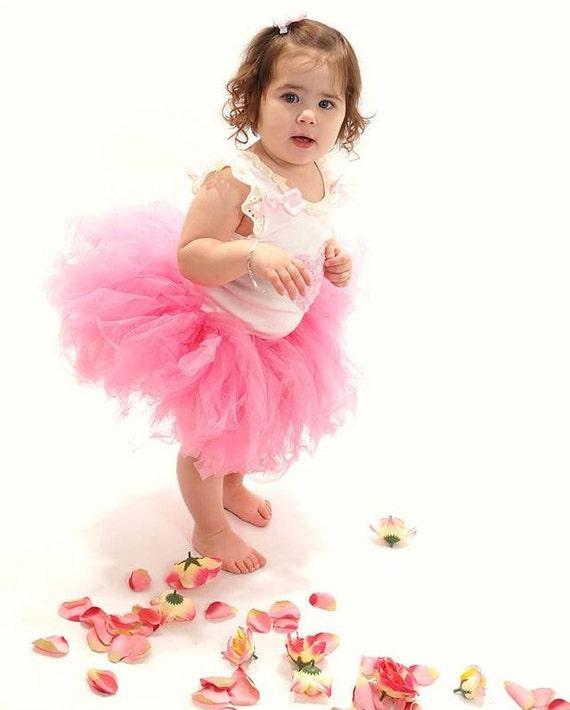 Ready to Ship - Vintage Shabby Chic Pink Flirt Tutu