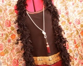 Flapper Dress with Necklace and Boa