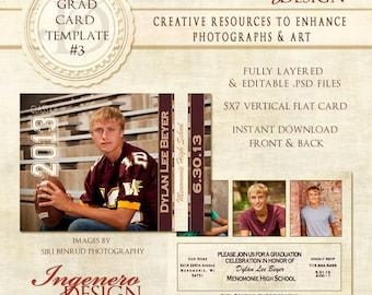 Senior Boy Invitation, Photoshop Template, Senior Boy Invitation Photoshop Template,  templates, graduation cards, graduation card, card 03