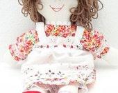 handmade rag doll, ragdoll handmade, hand made rag dolls, cloth doll, fabric doll, toddler toy, little girl doll, child friendly NF221