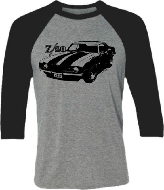 Muscle Car T-Shirt Camaro Z28-Retro Camaro Tshirt-Baseball