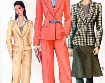 Vogue Pattern 7343 - Misses Jacket, Skirt & Pants - UNCUT - 8-12