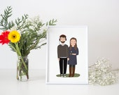 Custom Portrait Couple / Custom save the date / Custom family Drawing / Personalized Illustration / Wedding or anniversary gift