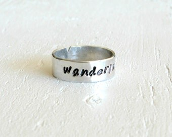 SALE Wanderlust. A born traveler's ring