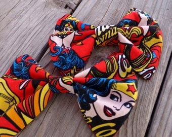 Wonder Woman Hair bow, bow tie
