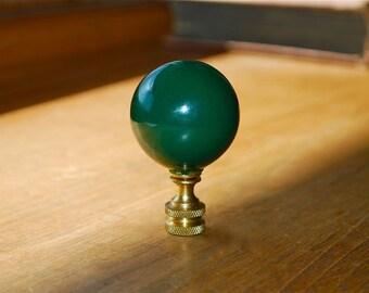 Way BIG Green Ceramic Ball Lamp Finial