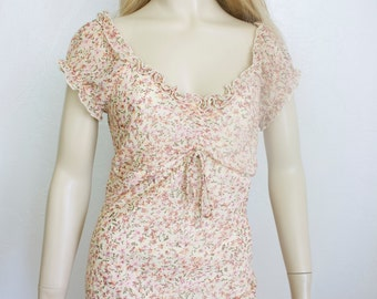 Vintage Floral Dress La Belle Size 7