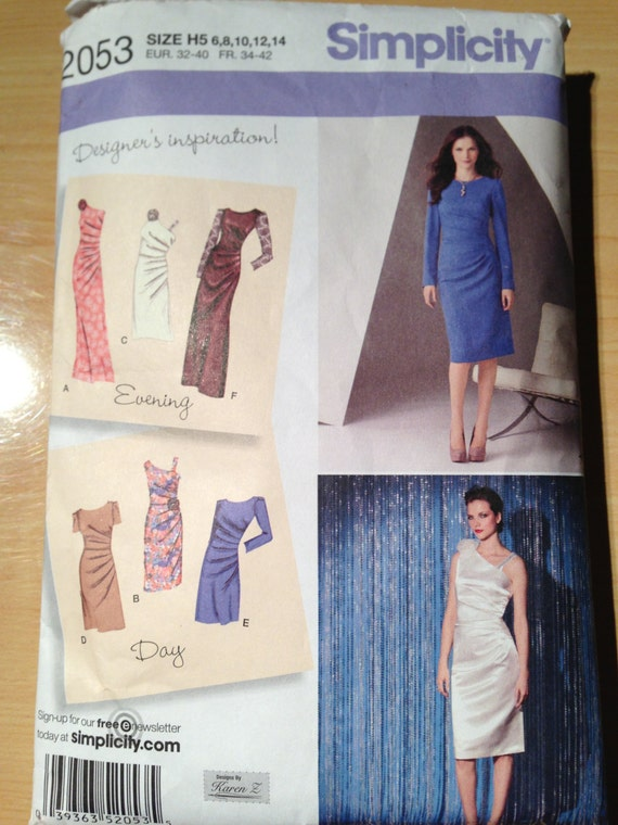 Simplicity Sewing Pattern 2053 Misses Dress in Two Lengths Size 6-14