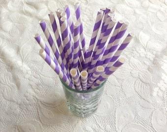 Chevron Paper Straw, Purple Violet Party Fancy Straw, favors treat or treat, Baby shower, Kid Birthday, Wedding, Celebration, Event decorate