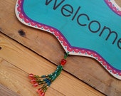 Welcome Sign-Welcome Décor-Shop Décor-Vintage Wood Sign-Studio Sign-Door Sign-Healing Decor-Wall Decoration-Welcome Décor-Welcome Sign