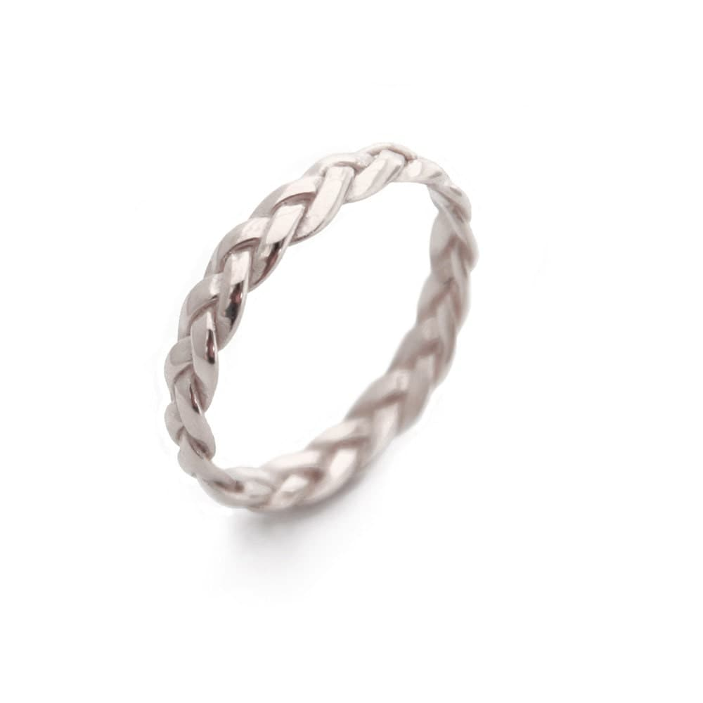braided white gold ring gold rings gold braided ring simple
