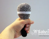 PATTERN Instant Download Play Microphone Rattle Crochet Toy Baby