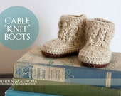 "Cable ""Knit"" Boots"