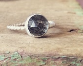 Rutilated Quartz Sterling Silver Ring- Size 7 1/2 (7.5)