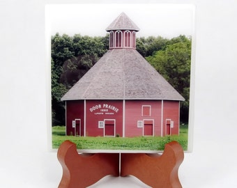 Round Barn Handmade Photo Coaster, FI0010