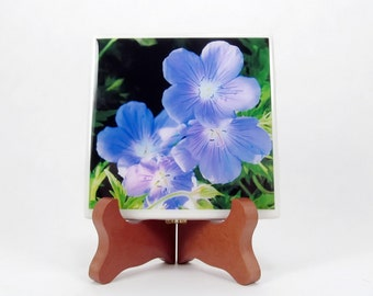 Purple Flax Handmade Photo Coaster, FI0014