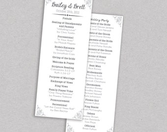 SAVE 20% // DIY Printable Wedding Program: Rustic - Barnwood - Barn Wedding - Shabby Chic - The Baylor