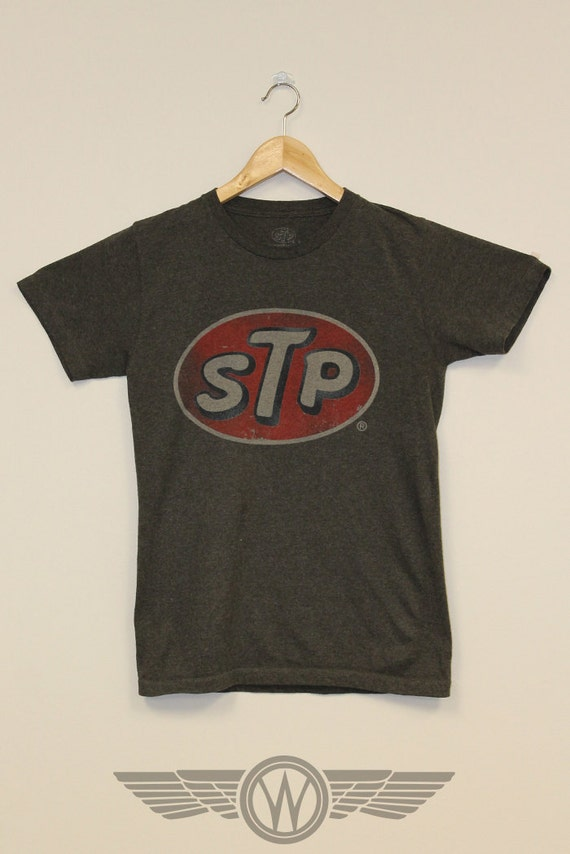 Stp Motor Oil Brand Vintage T Shirt Weasel Stone By
