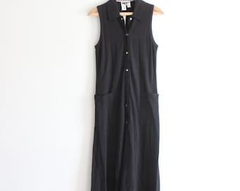 Minimal Black Summer Maxi Dress