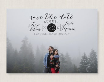 Custom save the date. Stylish and modern wedding announcement, available as a postcard. Completely customizable and printable. #31