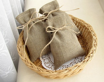 SET OF 100 Wedding Favor Bags, Burlap Gift Bags, Rustic Candy Bags - 4 х 6